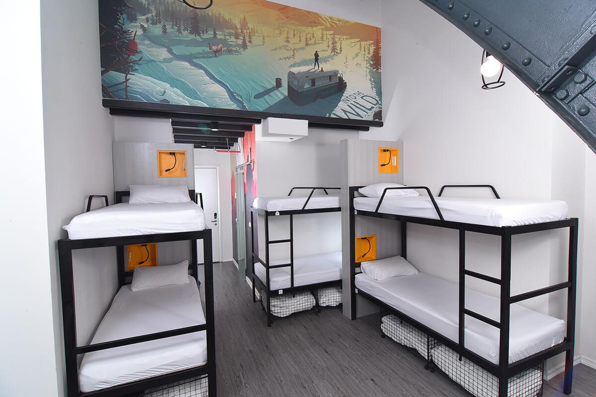 cinema hostel rooms