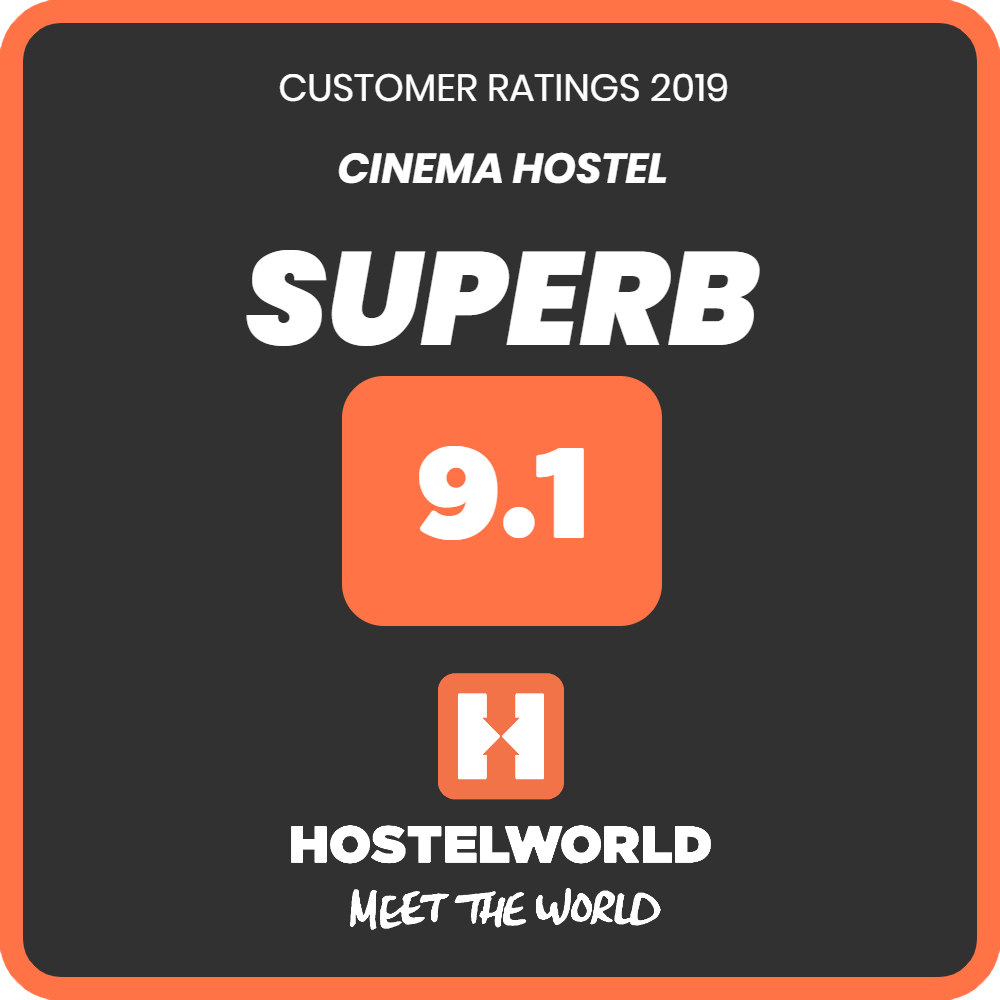 hostelworld superb badge 9.1